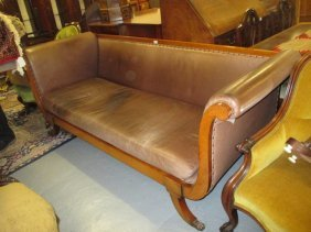 Good Quality Regency Style Mahogany And Leather