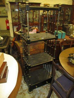 19th Century Ebonised And Gilded Four Tier Whatnot With