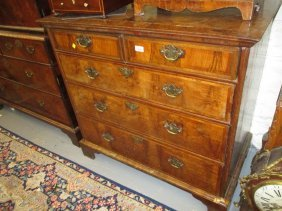 18th Century Walnut And Herringbone Crossbanded Chest