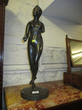 Brown Patinated Bronze Figure Of A Classical Female