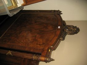 Pair Of Early 20th Century Walnut And Gilded Headboards