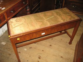 1920's Walnut Duet Box Seat Piano Stool