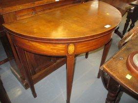 George Iii Mahogany Rosewood Crossbanded And Marquetry
