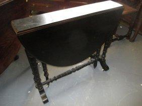 19th Century Ebonised Oval Sutherland Table Raised On