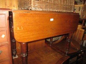 19th Century Mahogany Pembroke Table With Single End