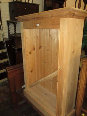 Modern Stripped Pine Open Bookcase