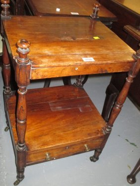 19th Century Rosewood Two Tier Whatnot On Turned