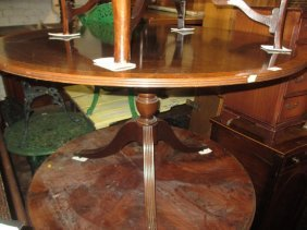 Reproduction Mahogany Circular Pedestal Dining Table