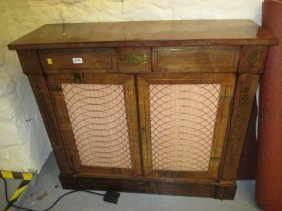 19th Century Rosewood And Brass Inlaid Chiffonier With