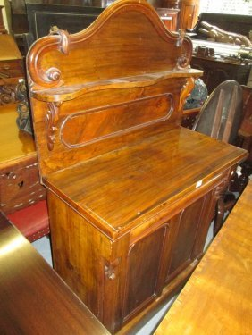 Victorian Walnut Chiffonier With A Shelf Back Above A