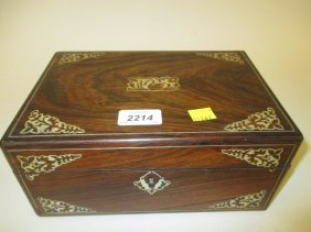 Victorian Rosewood And Mother Of Pearl Inlaid