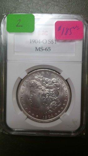 1904-o Graded Morgan Dollar