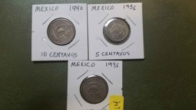 Lot Of 3 Early World Coins