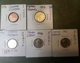 Lot Of 5 Caymen Islands World Coins