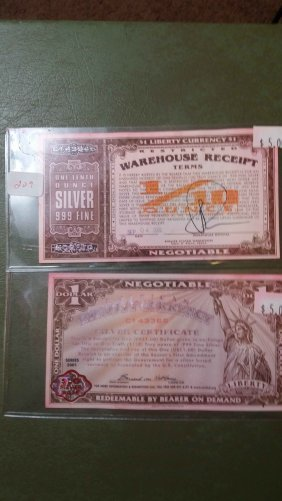 Lot Of 2 Liberty Currency