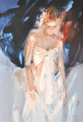 Christine Comyn (1957- ) Belgian. �Backstage�, Signed L