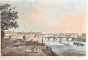 I� Hill (18th Century) �Paris�, Square And Bridge Of Th