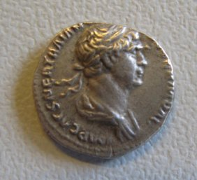 Trajan, Denarius Of Rome, Victory With Wreath, PM:TRPI: