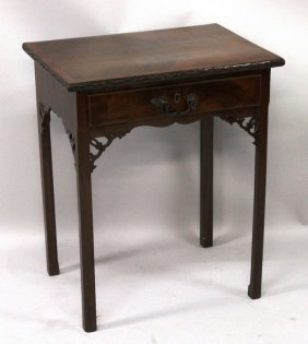 A George Iii Mahogany Rectangular Top Side Table With