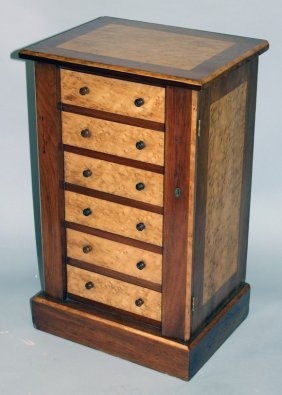 A 19th Century Mahogany And Birds Eye Maple Miniature