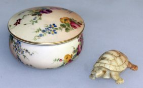 A Royal Worcester Rare Tortoise From The Netsuke Series