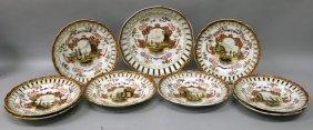 A Set Of Eight Augustus Rex Famille Rose Pierced