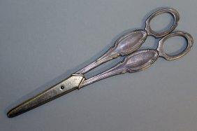A Pair Of Continental Silver Grape Scissors.