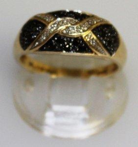 An Art Deco Design Sapphire And Diamond Ring.