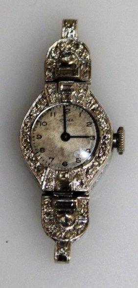 An Art Deco Diamond Set Cocktail Watch.
