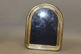 A Domed Top Plain Easel Photograph Frame. 8