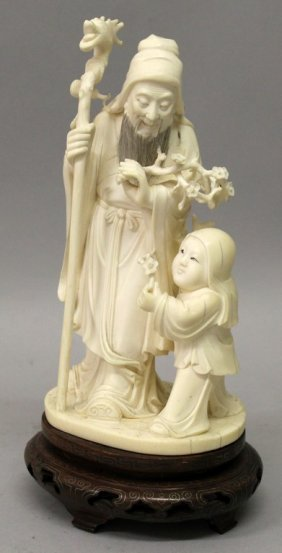 A Good Quality 19th/20th Century Chinese Ivory Group,