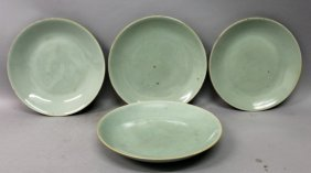 A Group Of Four 19th Century Chinese Celadon Porcelain