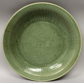 A Large Chinese Ming Dynasty Longquan Celadon Porcelain