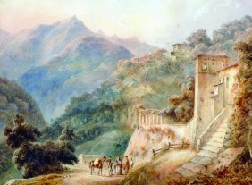 19th Century European School. A Mountainous Landscape,
