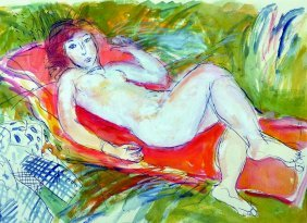 Roy Spencer (1918-2006) British. A Reclining Nude,