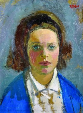 Charles James Mccall (1907-1989) British. Portrait Of A