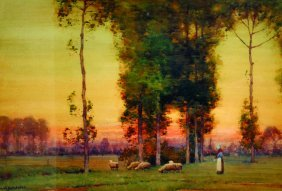 Albert Moulton Foweraker (1873-1942) British. A Sunset