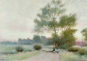 Albert Goodwin (1845-1932) British. 'arundel Castle',