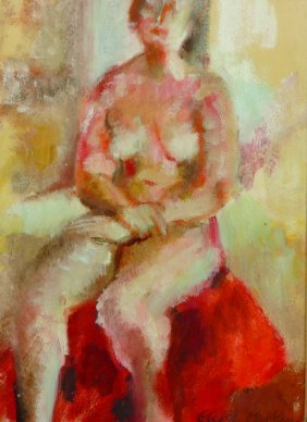 Elyse Parkin (20th Century) British. Study Of A Seated