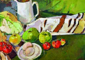 Roger Bliss (20th Century) British. Still Life With