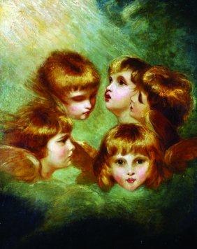 "After Joshua Reynolds (1723-1792) British. ""angels"