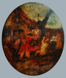Late 18th Century English School. Figures Revelling