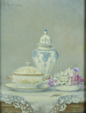 Gustave Barrier (1871-1953) French. Still Life Of