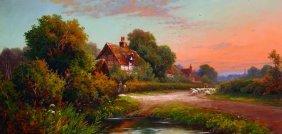 Robin Fenson (act.1889-1914) British. A Surrey Lane,