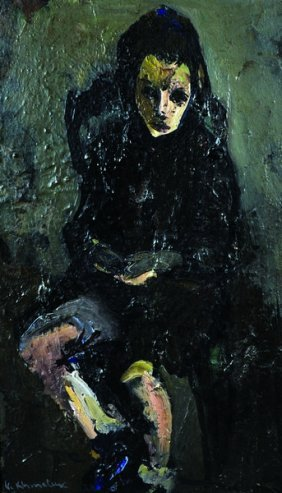 Vasyl Khmeluk (1903-1986) Russian. 'portrait Of A