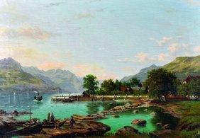 Elisa Agnetus-emilius Nyhoff (1826-1903) Dutch. A Lake