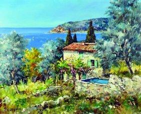 "Nicole Le Guen (1890- ) French. ""cote D'azur"", With A"