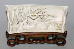 A Fine Quality 19th Century Chinese Ivory Wrist Rest,