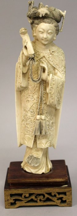 An Early 20th Century Chinese Ivory Figure Of An