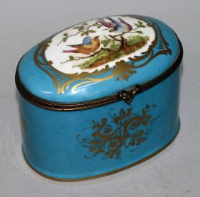 131. A Sevres Porcelain Oval Bowl And Cover, Blue
